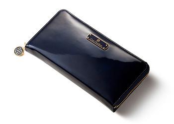 ラムエナメルレザーの長財布